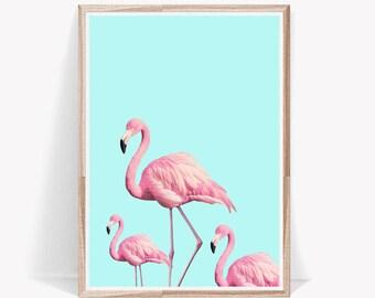 Flamingo Print,Pink Flamingo,Prints,Flamingo,Wall Art,Flamingos,Tropical Print,Tropical Decor,Art Prints,Digital Download,Large Wall Art
