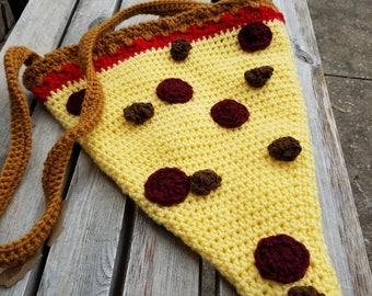 Pizza Slice Bag Crochet Food