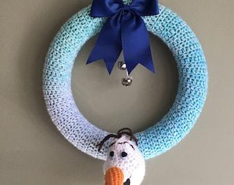 Olaf Crochet Wreath! (Frozen Movie)