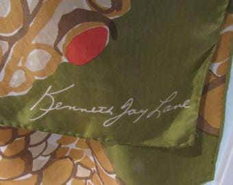 Vintage Kenneth J Lane 57 inch long Snake Scarf. Fab, Retro, Diva,