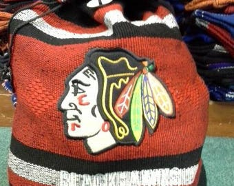 Blackhawks handmade backpack