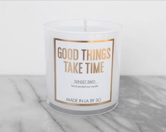 Made in LA by SG - Sunset Blvd - Soy Candle - Lavender - Gift