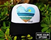 Keep it Salty Beach Trucker Hat / mesh, Christian hat, Christian apparel, women's hat, women's trucker hat, Christian trucker hat, Cap