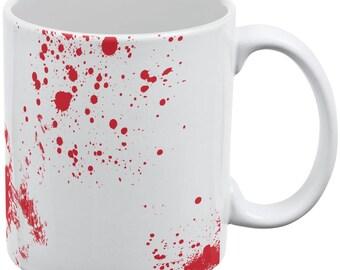 Blood Splatter White All Over Coffee Mug