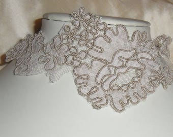 Brown lace for bridal wedding necklace