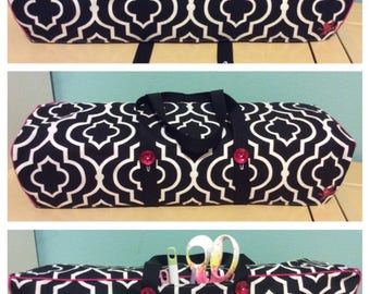 NEW! Cricut Maker Cricut Explore/ Air/ Air2/ One Convertible Dust Cover/ Tote Bag Custom Handmade Black and White with Pink Piping