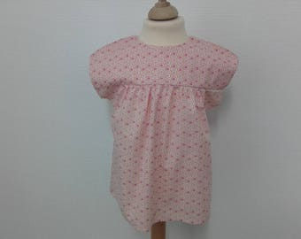 Lovely top in cotton in shades pink, 2 years