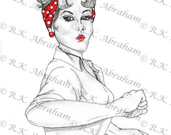 Rosie the Riveter 8x10 Print