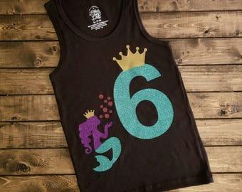Personalized Mermaid Birthday Shirt