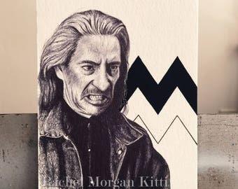 Bob, Twin Peaks, 1990s, Original Art, Geometric, Black Lodge, David Lynch, Frank Silva