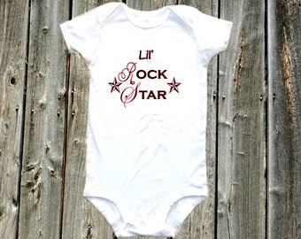 Lil Rock Star - Band baby one-piece bodysuit shirt, rock band shirt, rock and roll
