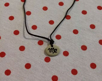 handmade painted blank Pebble necklace