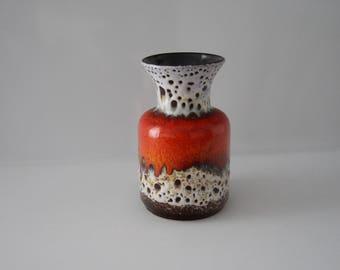 Fabulous vase by Jasba N6021018 WGP West German Pottery Midcentury Fat Lava