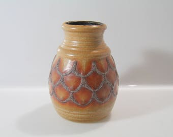 Nice Bay  Vase 630-14 - WGP, West German Pottery Mid Century, Fat Lava