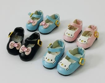 READY STOCK - Cute Kitty Ribbon Shoes for Blythe, Icy, Pullip Doll