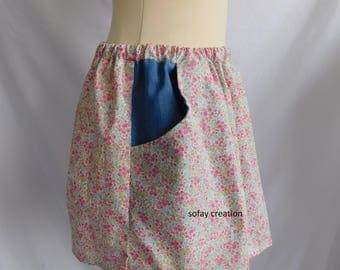 Pink liberty skirt with pockets