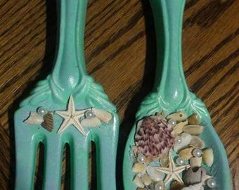 Beach theme kitchen Fork And Spoon hanger