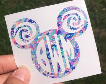 Moana Monogram | Disney's Moana Inspired Decal | Moana | Disney Decal | Yeti Cup Decal | Car Sticker | Window Decal | It Calls Me Decal