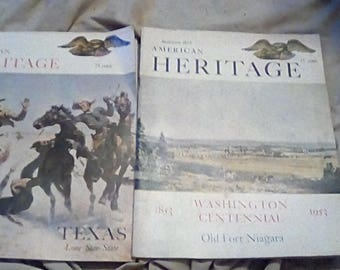 American Heritage Magazines Two Piece Set