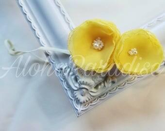 Alicia's Yellow Rose Headband
