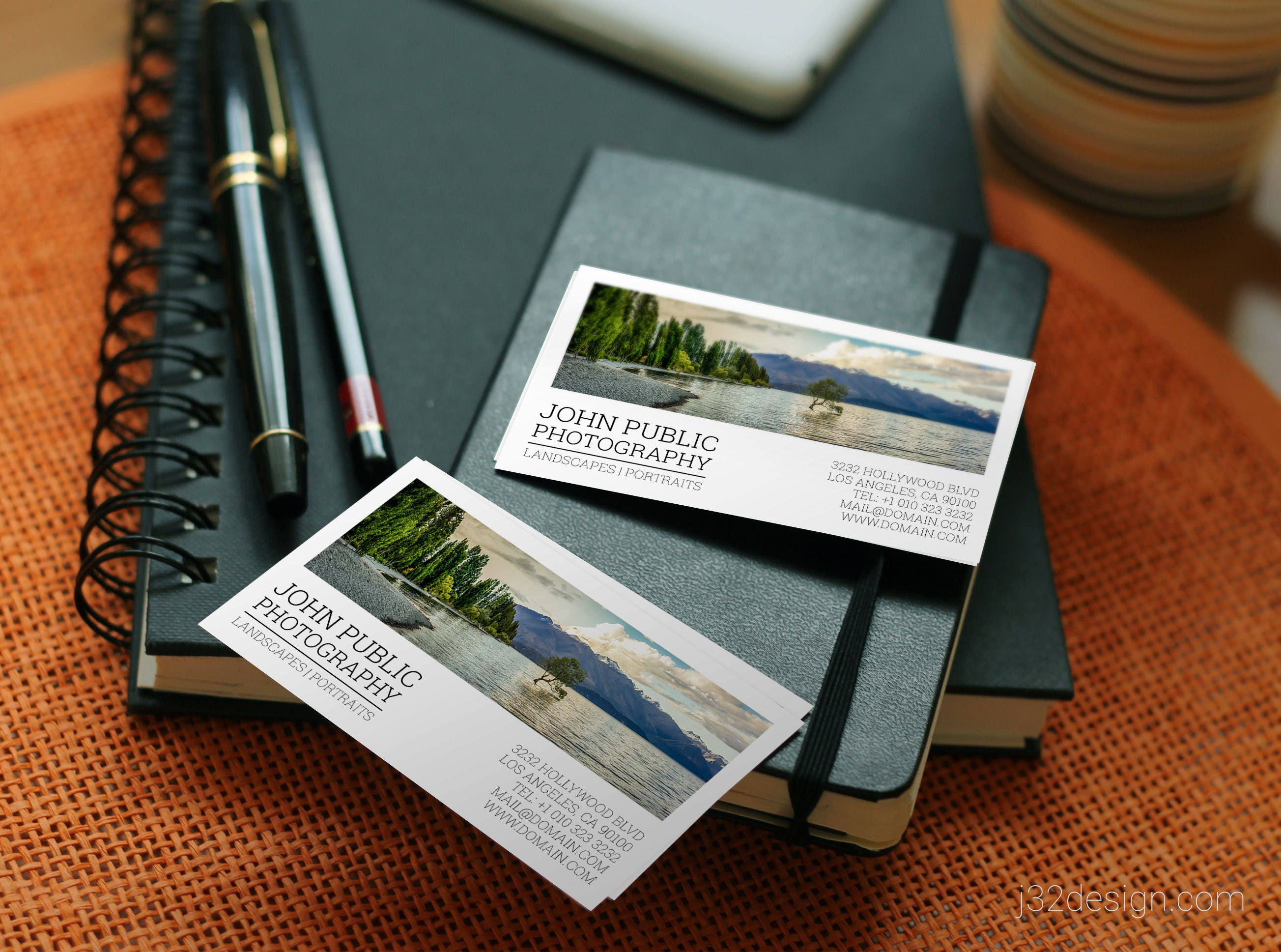 Photographer business cards template psd instant download photographer business cards template psd instant download portrait landscape photographers flashek Image collections