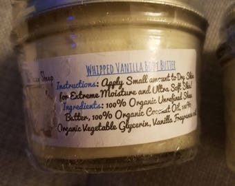 4oz Whipped Vanilla Shea Body Butter