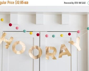 50% OFF Pink and Yellow Felt Ball Banner, My Story