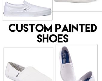 Customizable Disney Painted Shoes