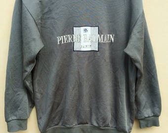 Pierre Balmain Paris sweatshirt big logo crewneck spell out jumper
