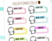 exam emoti labels - emoti planner stickers E166