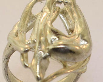 Sterling Silver Free Form Ring Size 8 1/2