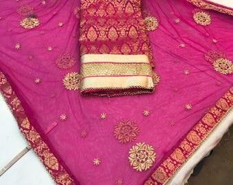 Free Shipping,Indian#Rajasthani salwar suit with  dupatta