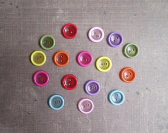 80 buttons mixed color Transparent 1.2 cm