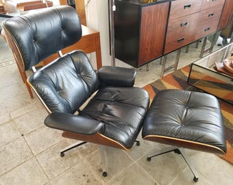 Plycraft Mid Century Lounge Chair and Ottoman