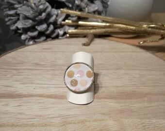 Cabochon Adjustable ring. Single model