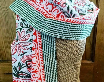 Blockprinted scarf/sarong, Blockprint, scarf, sarong, 100% cotton, gifts for her