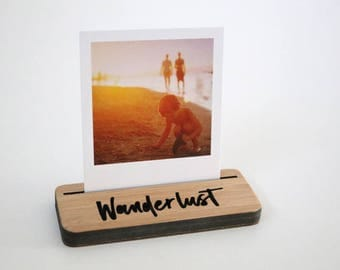 Photo Stands - Mini - Wanderlust - Display your Instagram photos, picture holder, photo frame
