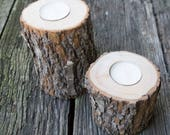 Handmade Reclaimed Camphor Laurel Tree Tealight Candle Holder Rustic Kitchen Home Office Decor Repurposed Eco Nature Live Bark Edge Wood
