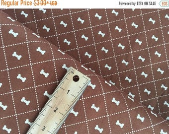 Sale Bone in Brown from the Rover Collection, Cotton Fabric by Riley Blake, Dog Bone Brown Quilting Fabric