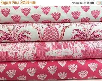 Sale Bundle of 4 Fabrics from the Tradewinds Collection by Michael Miller Fabrics, South Pacific, Hawaiian