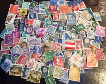 100 Foreign Postage Stamps