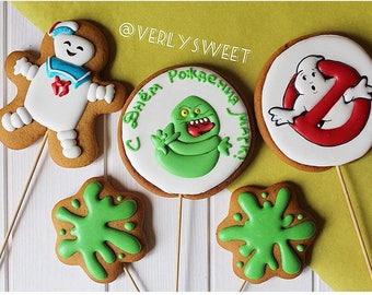 Gingerbread cookies ghostbusters
