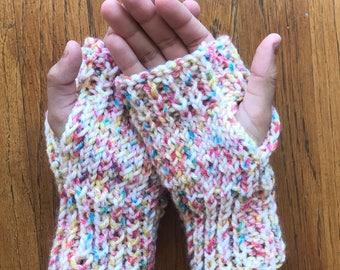 Confetti Fingerless Gloves, Women's Gloves, Fingerless Gloves