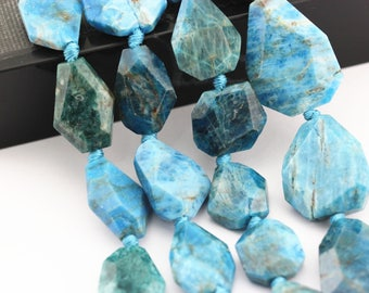 Faceted Apatite Irregular Shape Loose Beads Size 40~45mm Approx 15.5'' Long.I-APA-434