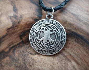 Yggdrasil tree of life pendant antique silver color. Viking, Celtic, medieval inspiration