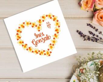 Design logo, logo, Monogram wedding, wedding stationery wedding, branding, logo, wedding, floral heart, pre-designed logo, logo, theme, wedding flowers