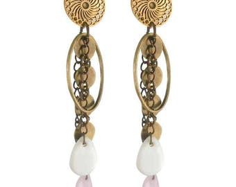 Earring Amazon bronze clip (made in France)
