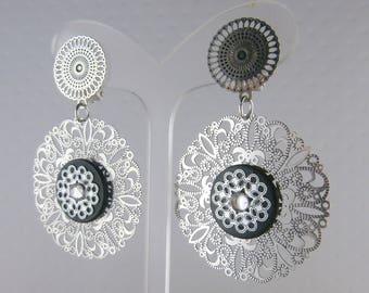 Earrings Clip Anoda black (made in France)
