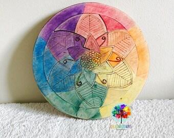 Rainbow flower puzzle