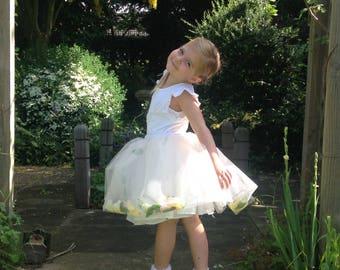 Tutu, petal, floral, flower fairy, wedding skirt, bridesmaid